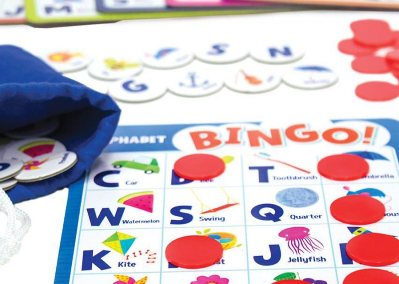 TCH Montessori At Home Activity using Bingo Alphabets for memory and fun!